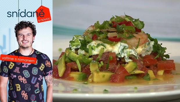 Vaříme s Romanem: Jak na krevety na víně a česneku s crème fraîche?