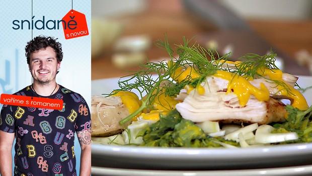 Vaříme s Romanem: Jak na bylinkový salát s kuřecím masem a šafránem?