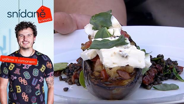 Vaříme s Romanem: Jak na grilovaný lilek s čočkou a tatarákem z rajčat?