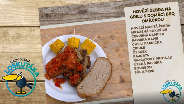 Rady ptáka Loskutáka - Hovězí žebra na grilu s barbecue omáčkou