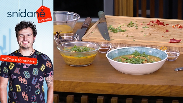 Vaříme s Romanem: Jak připravit kuřecí kokosové kari?