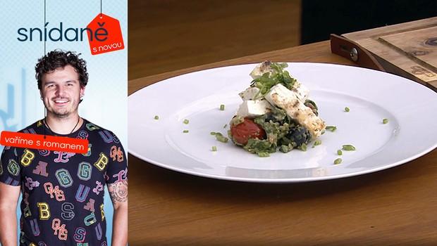 Vaříme s Romanem: Jak připravit grilovanou fetu s bazalkovým pestem a olivami?