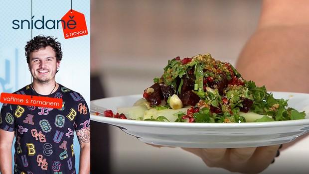 Vaříme s Romanem: Jak na salát z červené řepy s dresinkem z vlašských ořechů?