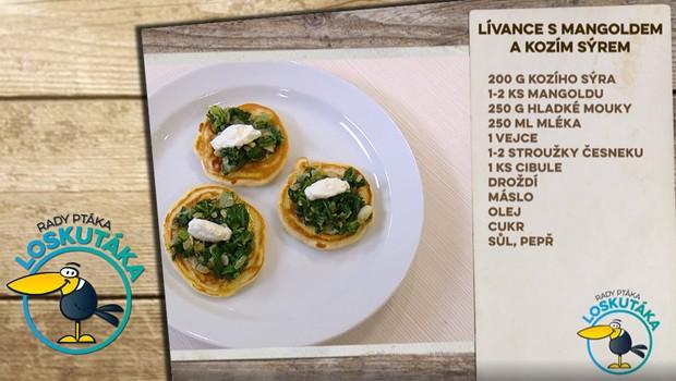 Rady ptáka Loskutáka - Lívance s mangoldem a kozím sýrem
