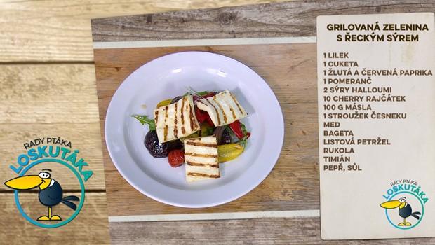 Rady ptáka Loskutáka - Grilovaná zelenina s řeckým sýrem